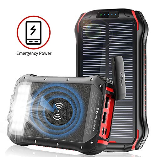 Best Wireless Solar Phone Chargers With Battery Review 2021 5