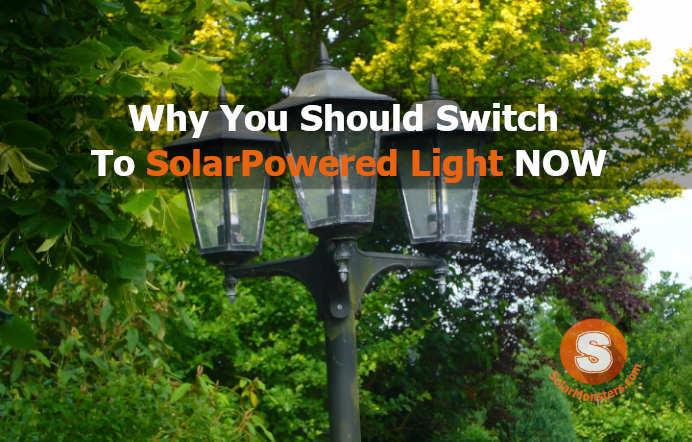 solar powered light for outdoor