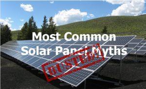 myths about solar panel