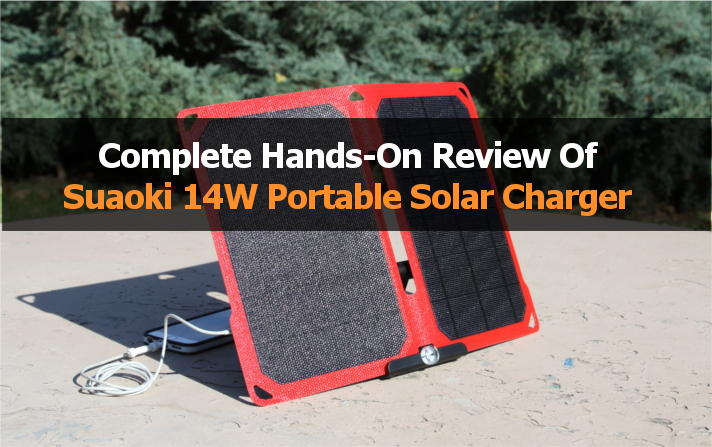 suaoki 14w portable solar charger