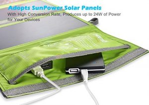 choetech 24w solar charger backpack